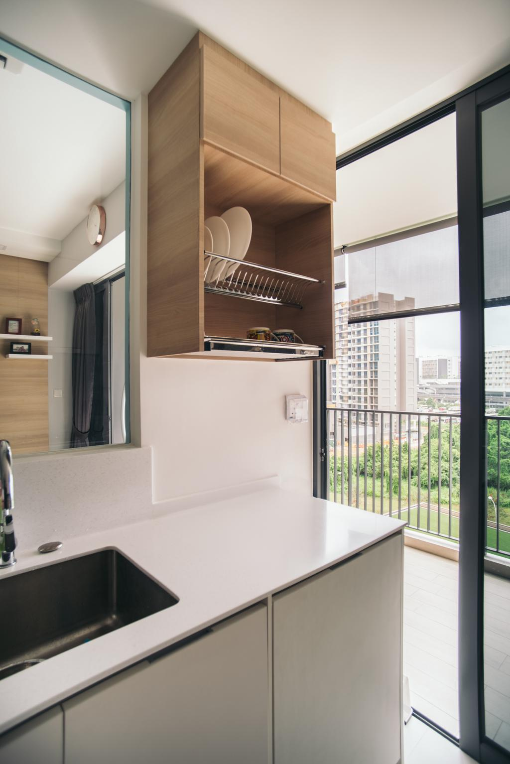Contemporary, Condo, Kitchen, Bellewaters, Interior Designer, Urban Habitat Design