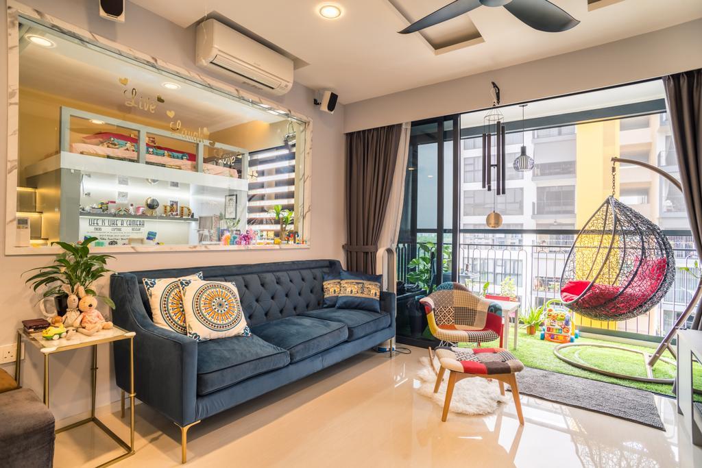 Transitional, Condo, Balcony, Westwood Residences, Interior Designer, Urban Habitat Design