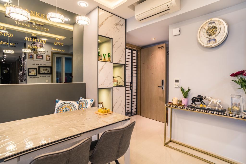 Transitional, Condo, Dining Room, Westwood Residences, Interior Designer, Urban Habitat Design