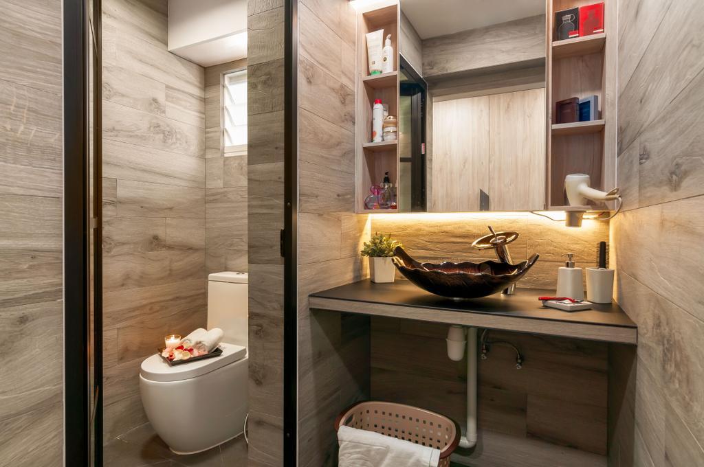 Contemporary, HDB, Bathroom, Edgedale Plains, Interior Designer, Livinci Interior