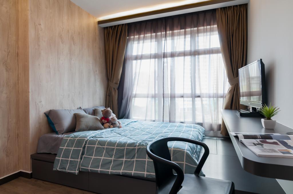 Contemporary, HDB, Bedroom, Edgedale Plains, Interior Designer, Livinci Interior