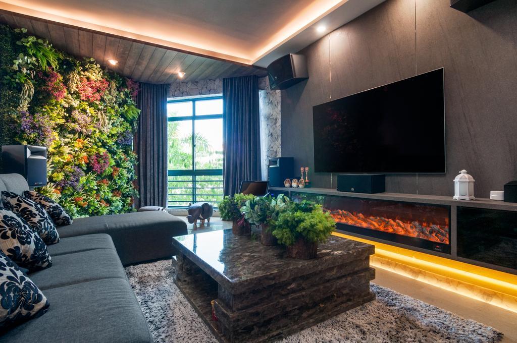 Eclectic, Condo, Living Room, The Hillside, Interior Designer, Livinci Interior, Contemporary