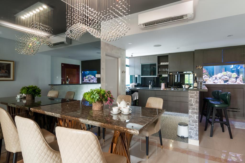 Eclectic, Condo, Dining Room, The Hillside, Interior Designer, Livinci Interior, Contemporary