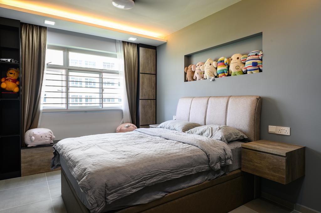 Transitional, HDB, Bedroom, Anchorvale Crescent, Interior Designer, Livinci Interior