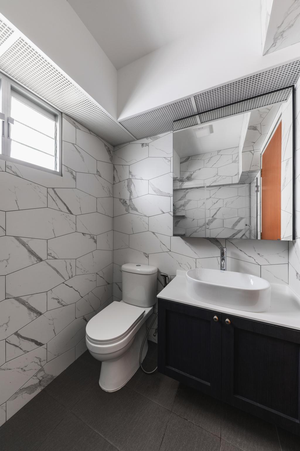 Scandinavian, HDB, Bathroom, Henderson Road, Interior Designer, Voila