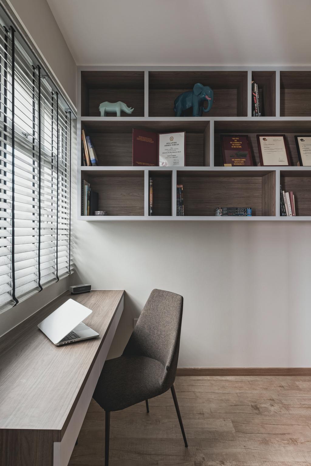 Scandinavian, HDB, Study, Henderson Road, Interior Designer, Voila