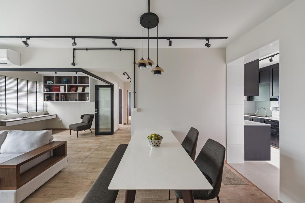 Scandinavian, HDB, Dining Room, Henderson Road, Interior Designer, Voila