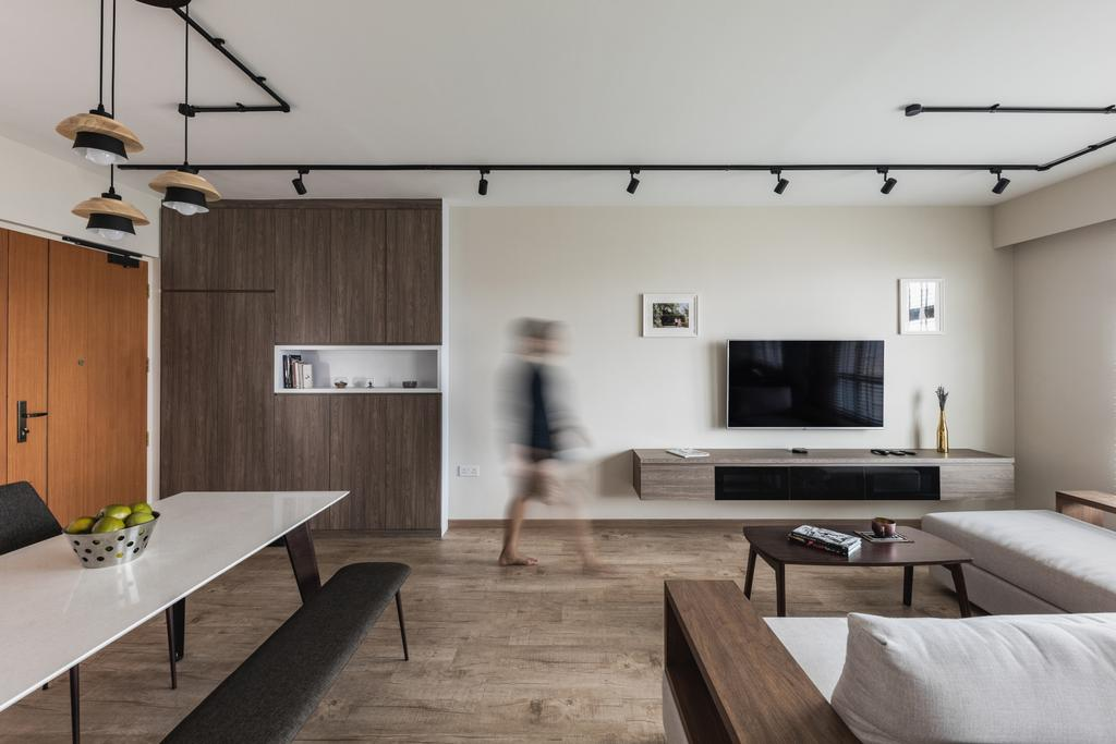 Scandinavian, HDB, Living Room, Henderson Road, Interior Designer, Voila