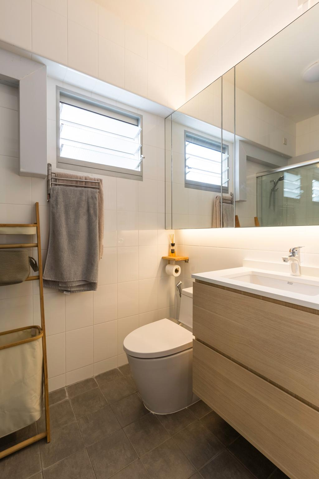 Scandinavian, HDB, Bathroom, Punggol Central, Interior Designer, Design Story