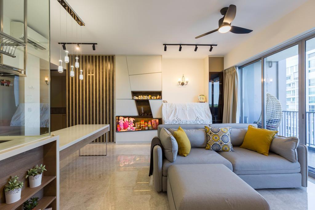 Contemporary, Condo, Living Room, Seastrand, Interior Designer, Unity ID
