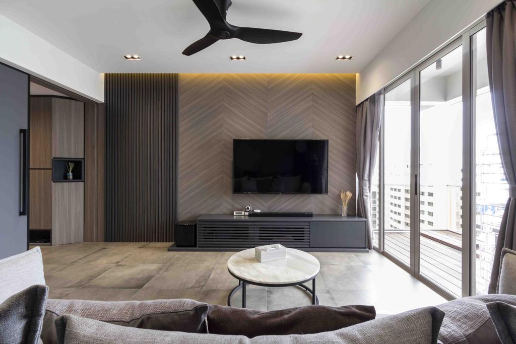 Contemporary, Condo, Living Room, Le Crescendo, Interior Designer, Fineline Design
