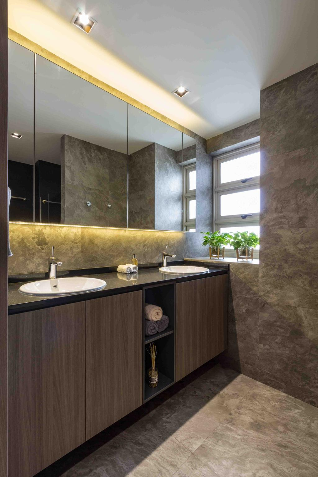 Contemporary, Condo, Bathroom, Le Crescendo, Interior Designer, Fineline Design