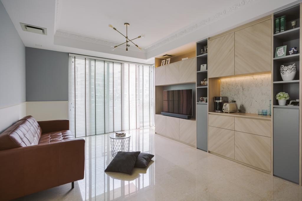 Scandinavian, Condo, Living Room, Carribean @ Keppel Bay, Interior Designer, Schemacraft