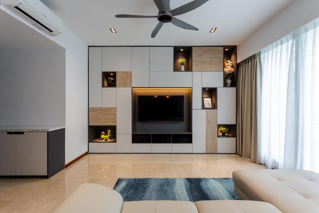 Scandinavian, Condo, Living Room, Freesia Woods, Interior Designer, Schemacraft, Contemporary