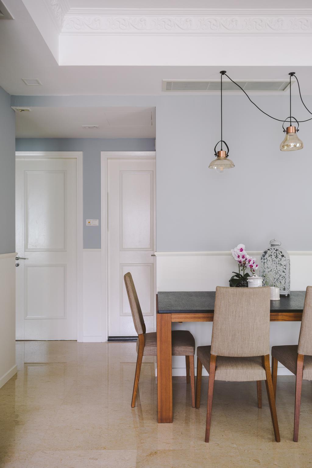 Scandinavian, Condo, Dining Room, Carribean @ Keppel Bay, Interior Designer, Schemacraft