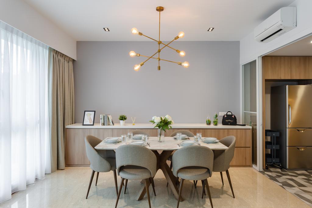 Scandinavian, Condo, Dining Room, Freesia Woods, Interior Designer, Schemacraft, Contemporary