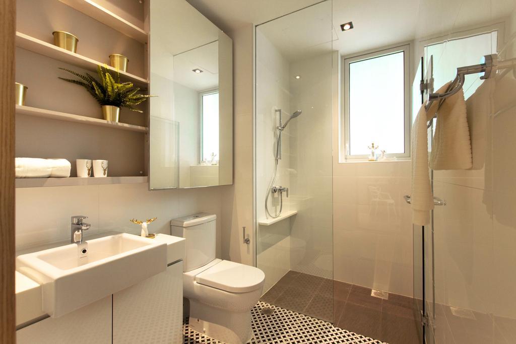 Contemporary, Condo, Bathroom, Roots @ Transit Road, Interior Designer, Space Atelier