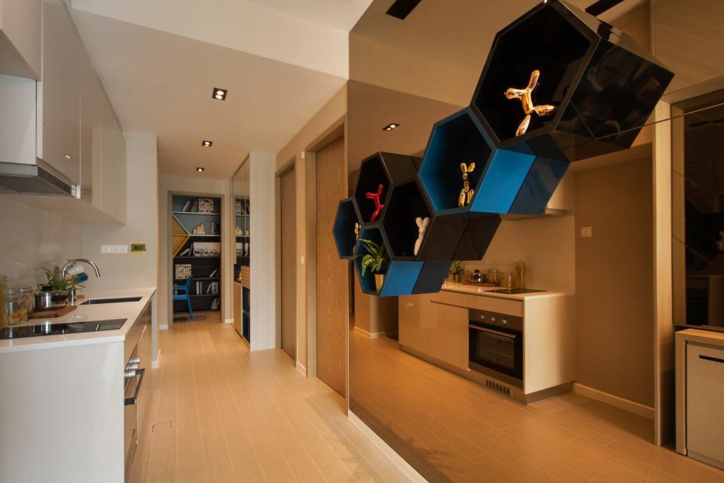 Contemporary, Condo, Kitchen, Roots @ Transit Road, Interior Designer, Space Atelier