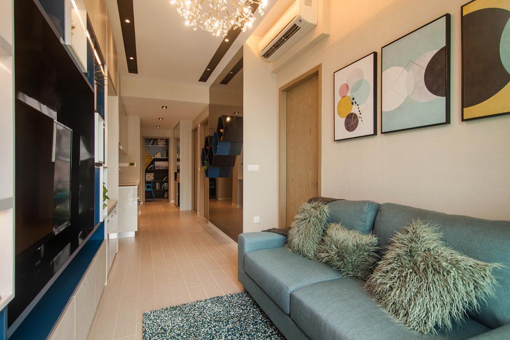Contemporary, Condo, Living Room, Roots @ Transit Road, Interior Designer, Space Atelier