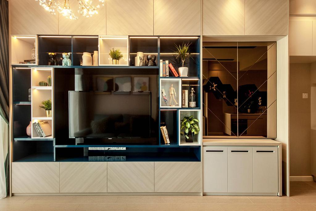 Contemporary, Condo, Roots @ Transit Road, Interior Designer, Space Atelier