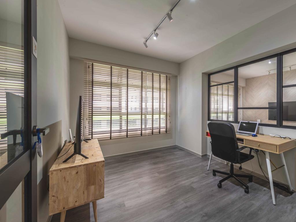 Contemporary, HDB, Study, Tampines Street 61, Interior Designer, Ideal Design Interior