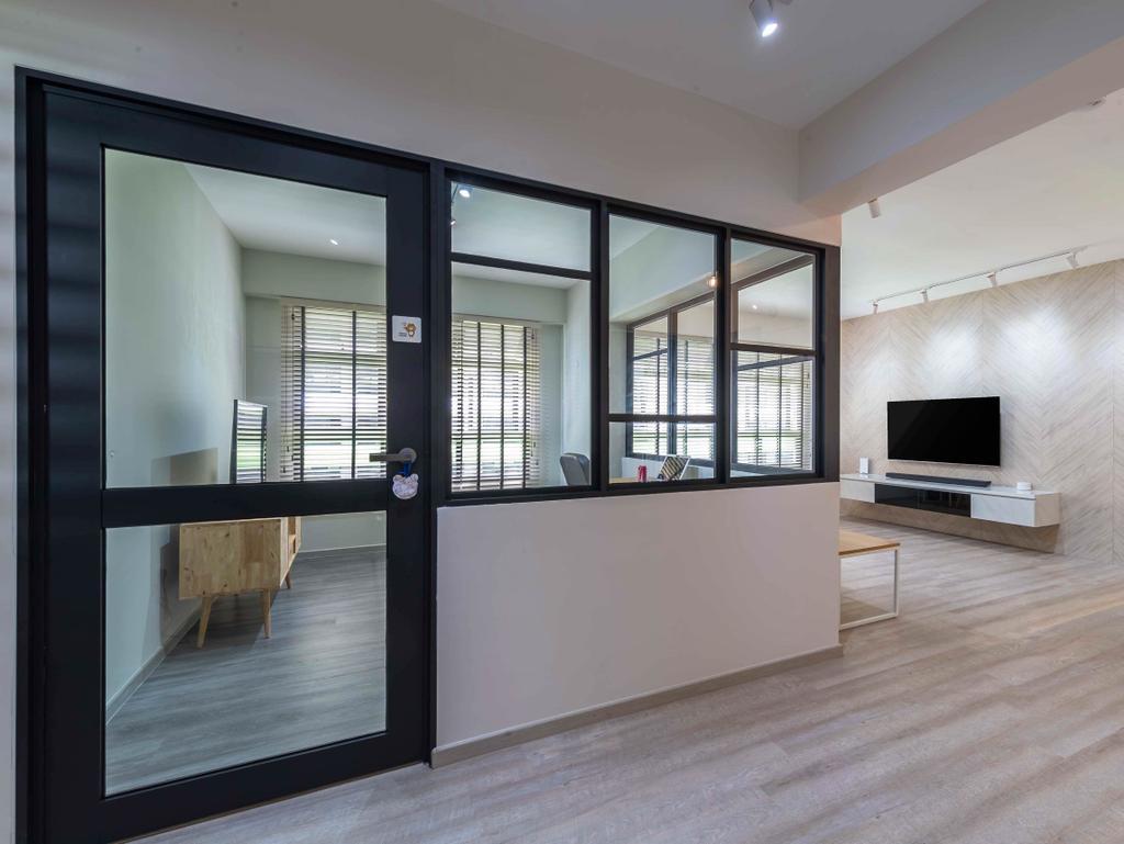 Contemporary, HDB, Living Room, Tampines Street 61, Interior Designer, Ideal Design Interior
