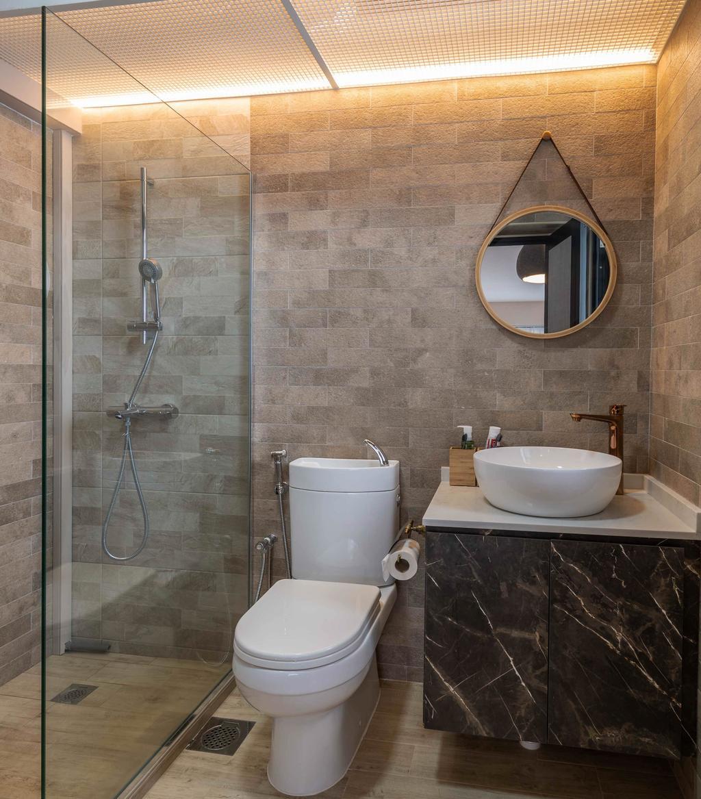 Contemporary, HDB, Bathroom, Tampines Street 61, Interior Designer, Ideal Design Interior