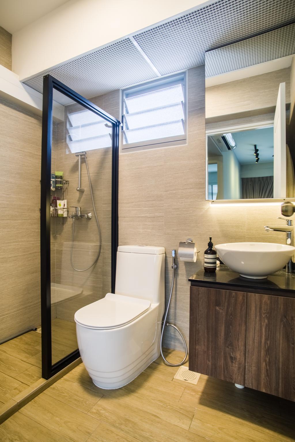 Contemporary, HDB, Bathroom, Edgedale Plains, Interior Designer, Urban Habitat Design, Scandinavian