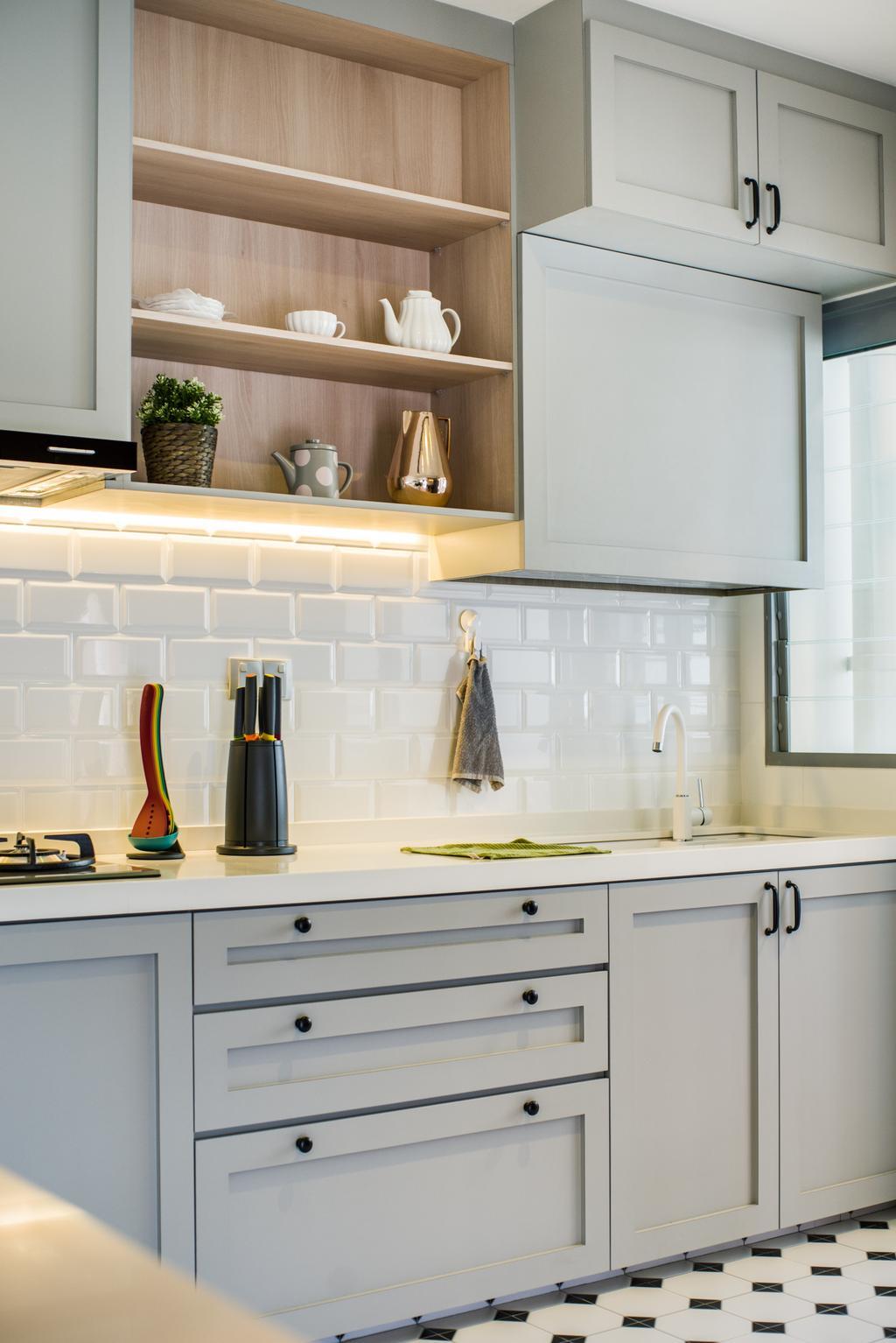 Contemporary, HDB, Kitchen, Edgedale Plains, Interior Designer, Urban Habitat Design, Scandinavian