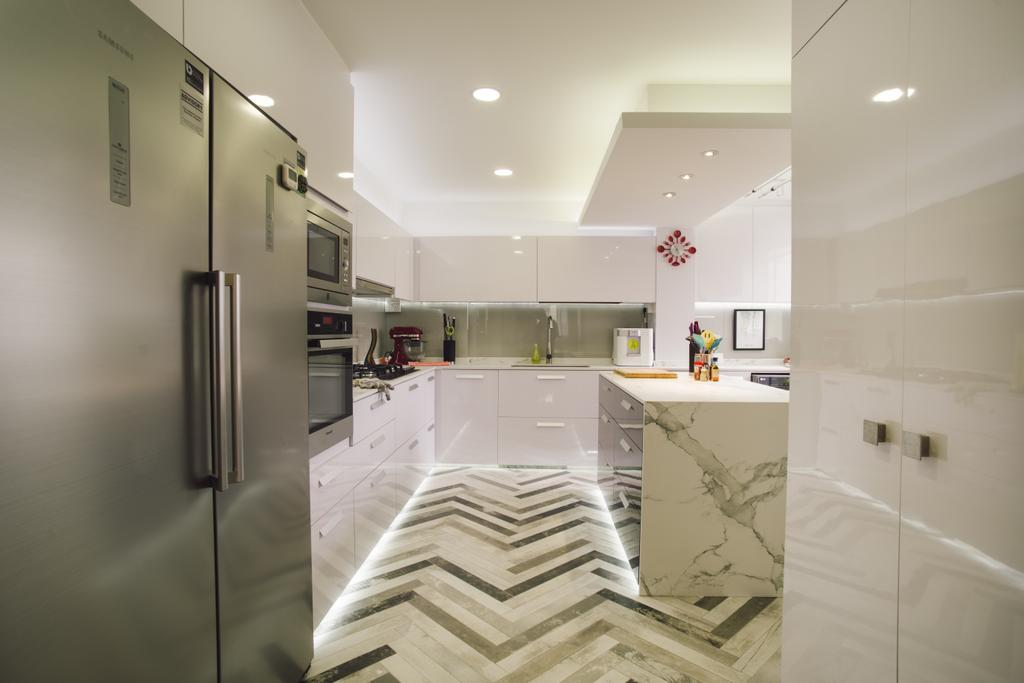 Contemporary, HDB, Kitchen, Simei Street 5, Interior Designer, Urban Habitat Design