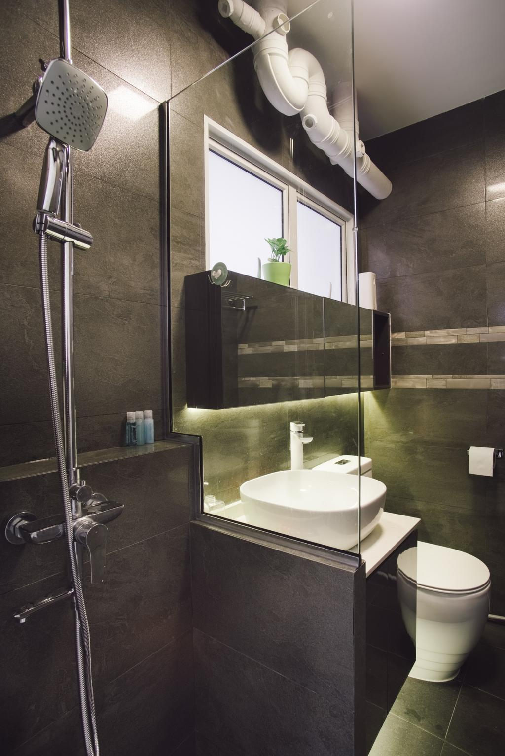 Contemporary, HDB, Bathroom, Simei Street 5, Interior Designer, Urban Habitat Design