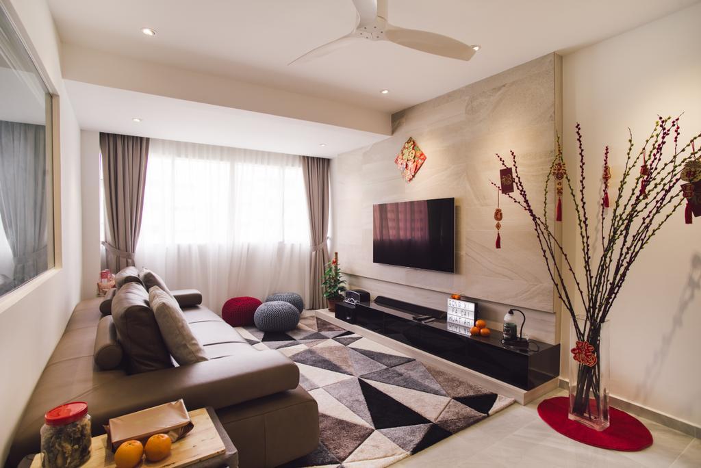 Contemporary, HDB, Living Room, Simei Street 5, Interior Designer, Urban Habitat Design