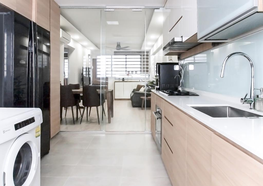 Contemporary, HDB, Kitchen, Bishan Street 11, Interior Designer, Ideal Haus