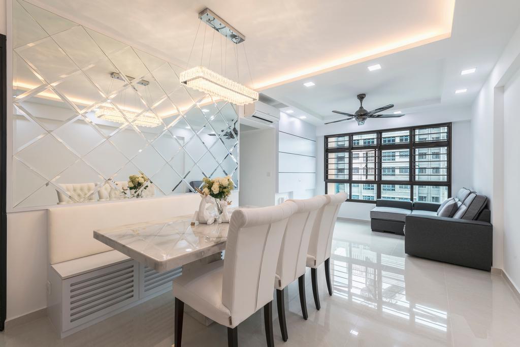 Contemporary, HDB, Living Room, Buangkok Crescent, Interior Designer, Ideal Haus