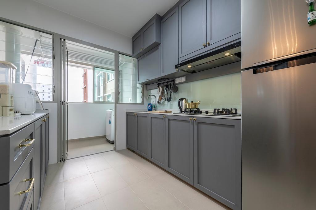 Contemporary, HDB, Kitchen, Tampines Street 45, Interior Designer, Ideal Haus