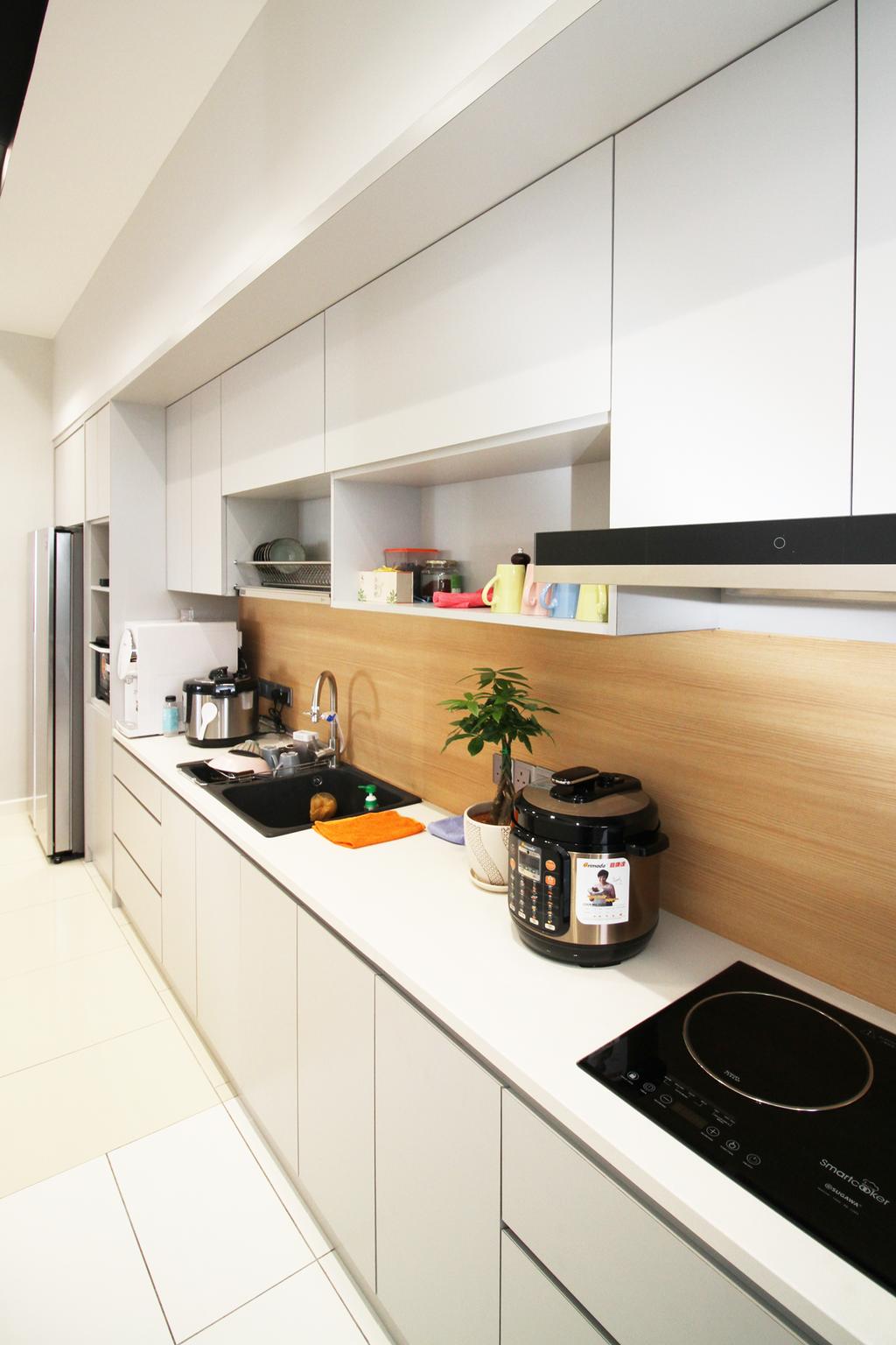 Modern, Apartment, Kitchen, Seri Puteri Hill, Puchong, Interior Designer, Interior+ Design Sdn. Bhd., Contemporary