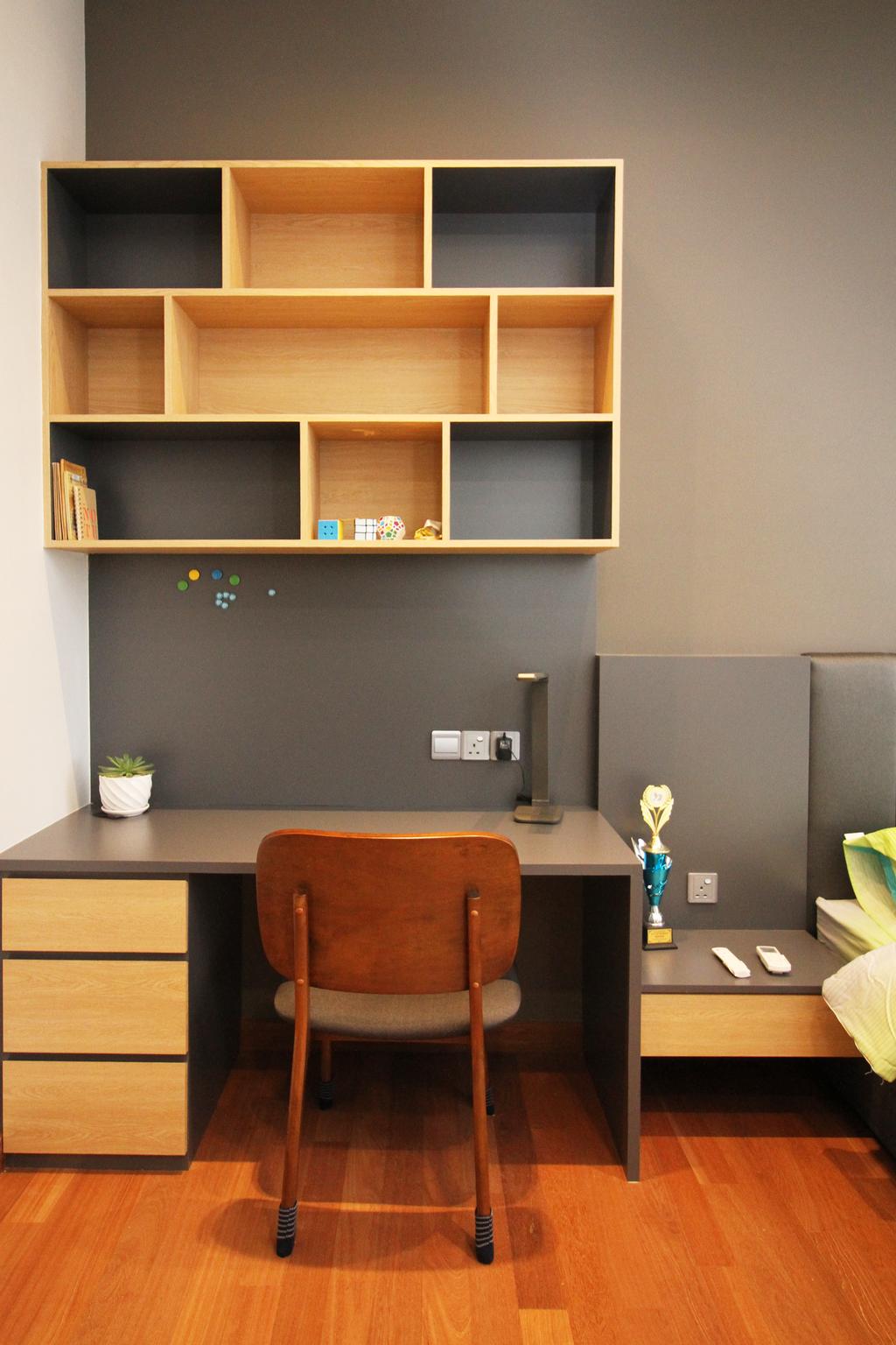 Modern, Apartment, Study, Seri Puteri Hill, Puchong, Interior Designer, Interior+ Design Sdn. Bhd., Contemporary