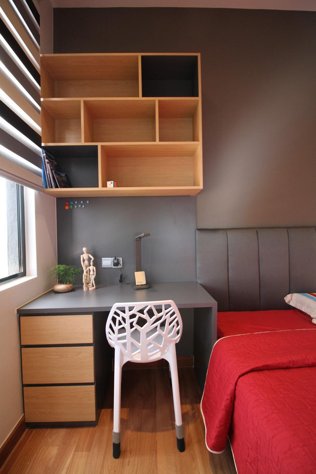 Modern, Apartment, Bedroom, Seri Puteri Hill, Puchong, Interior Designer, Interior+ Design Sdn. Bhd., Contemporary