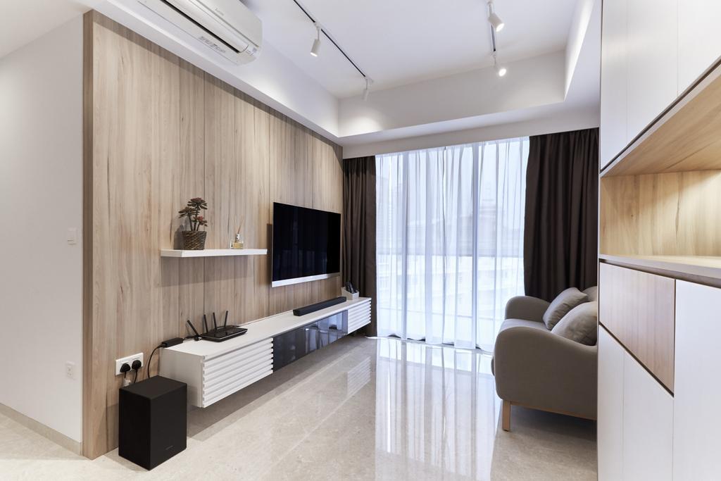 Scandinavian, Condo, Living Room, Derbyshire, Interior Designer, Charlotte's Carpentry