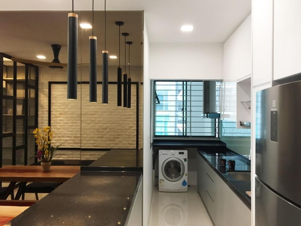 Modern, Apartment, Kitchen, V Residence 2, Sunway Velocity, Interior Designer, Spazio Design Sdn Bhd, Contemporary