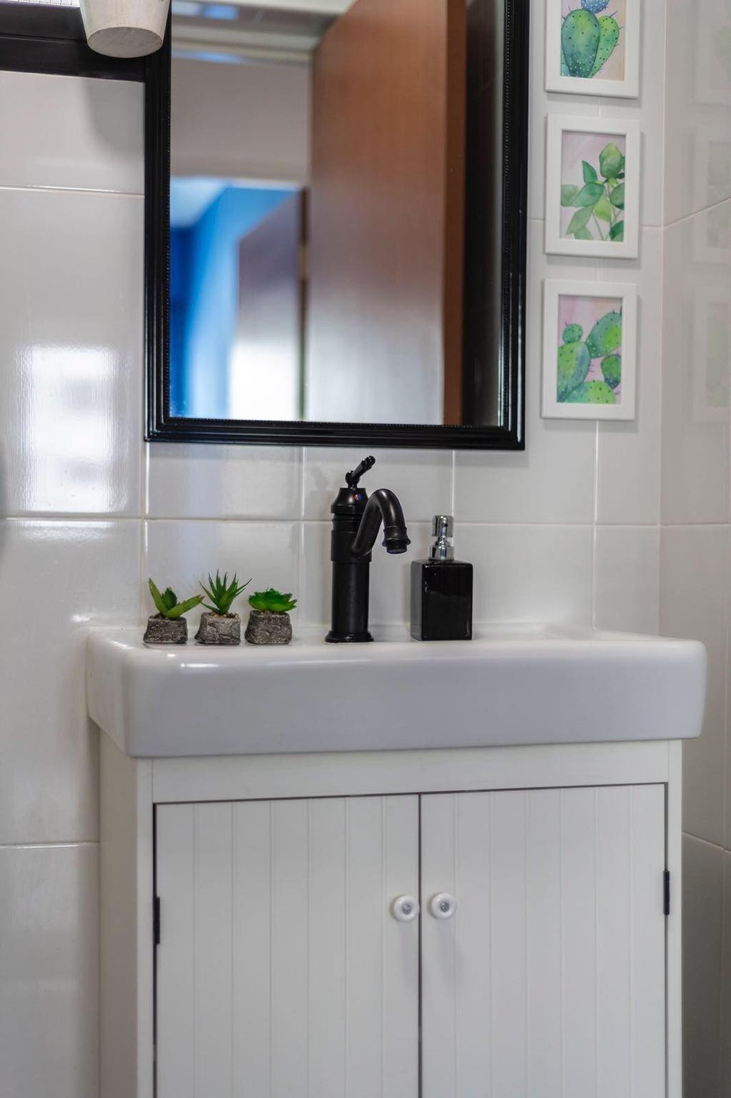 Industrial, HDB, Bathroom, Fernvale Link, Interior Designer, Earth Interior Design Pte Ltd