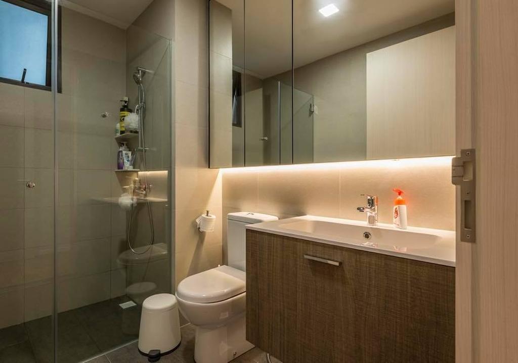 Contemporary, Condo, Bathroom, The Amore, Interior Designer, Earth Interior Design Pte Ltd