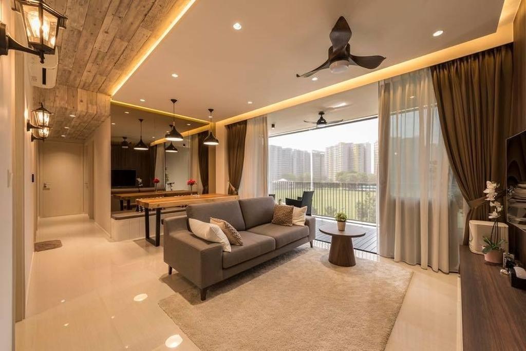 Contemporary, Condo, Living Room, The Amore, Interior Designer, Earth Interior Design Pte Ltd