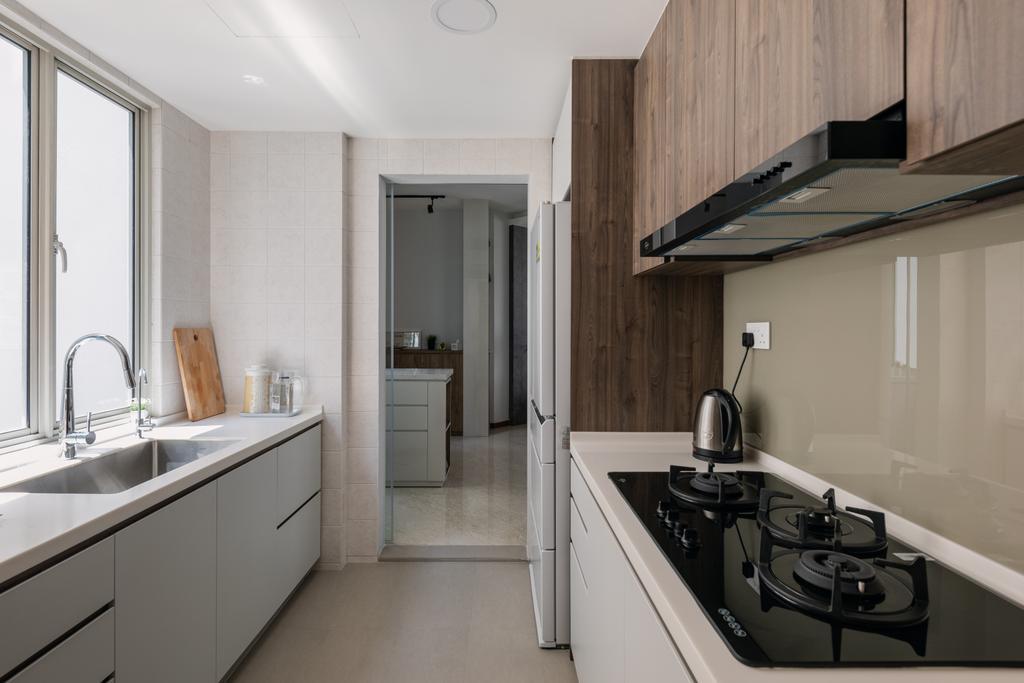 Contemporary, HDB, Kitchen, Woodlands Crescent, Interior Designer, Boewe Design