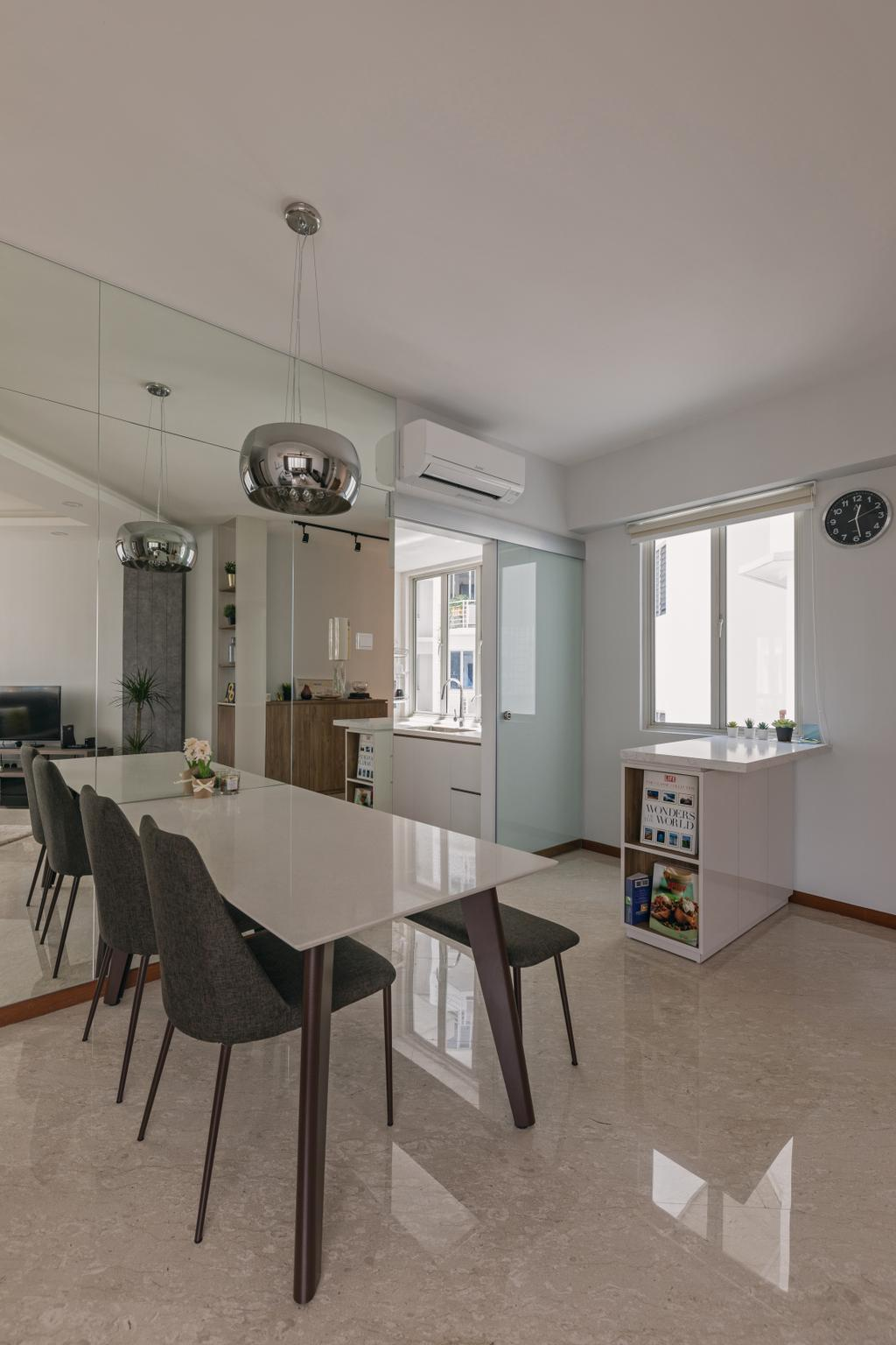 Contemporary, HDB, Dining Room, Woodlands Crescent, Interior Designer, Boewe Design