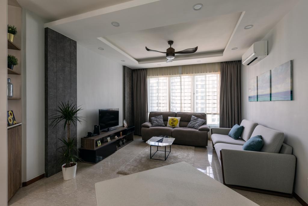 Contemporary, HDB, Living Room, Woodlands Crescent, Interior Designer, Boewe Design