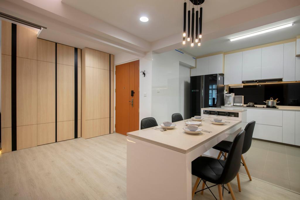 Contemporary, HDB, Dining Room, Canberra Crescent, Interior Designer, Ciseern, Scandinavian