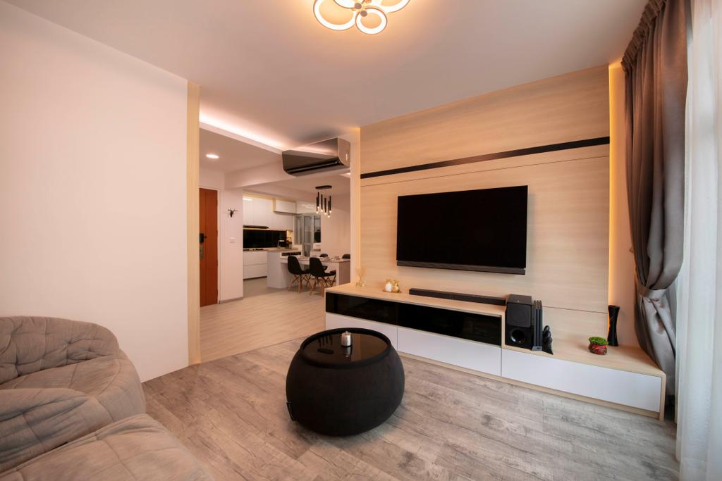 Contemporary, HDB, Living Room, Canberra Crescent, Interior Designer, Ciseern, Scandinavian