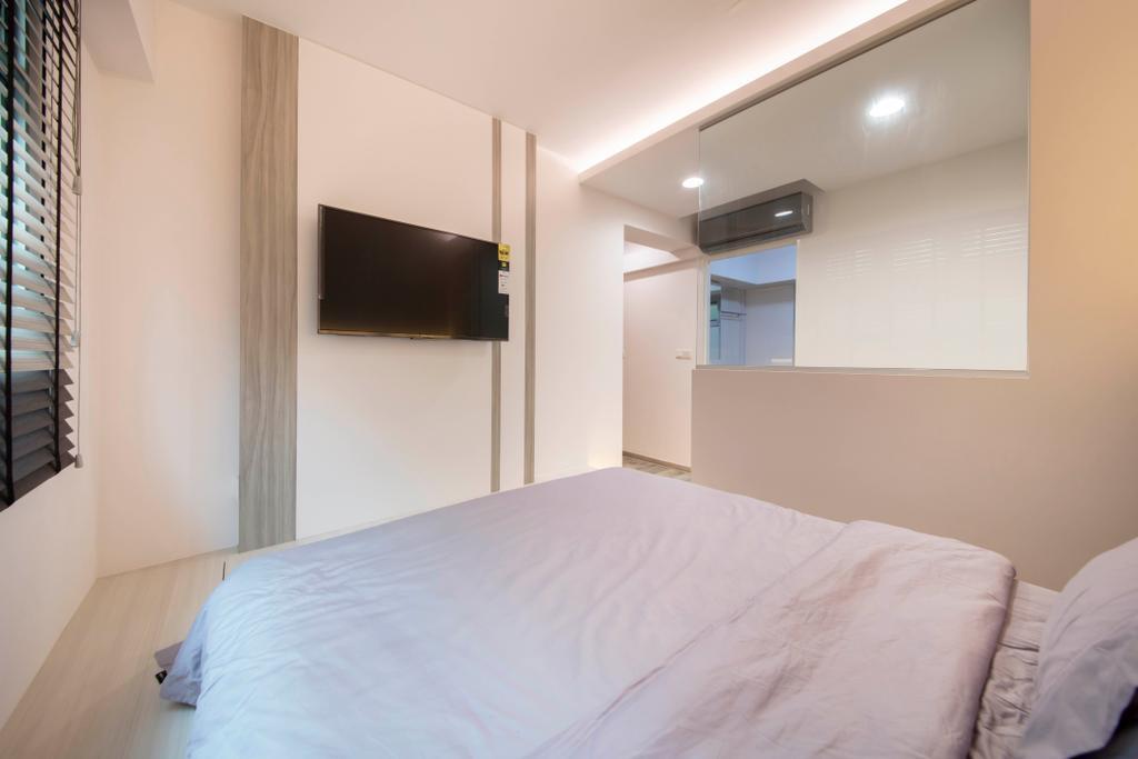 Contemporary, HDB, Bedroom, Canberra Crescent, Interior Designer, Ciseern, Scandinavian