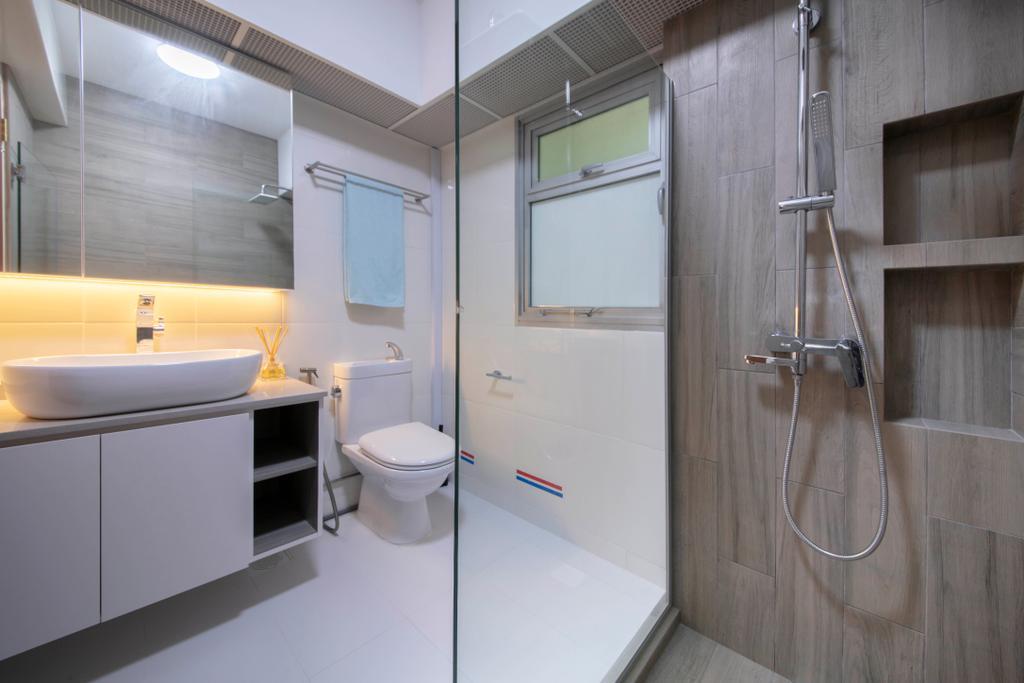Contemporary, HDB, Bathroom, Canberra Crescent, Interior Designer, Ciseern, Scandinavian